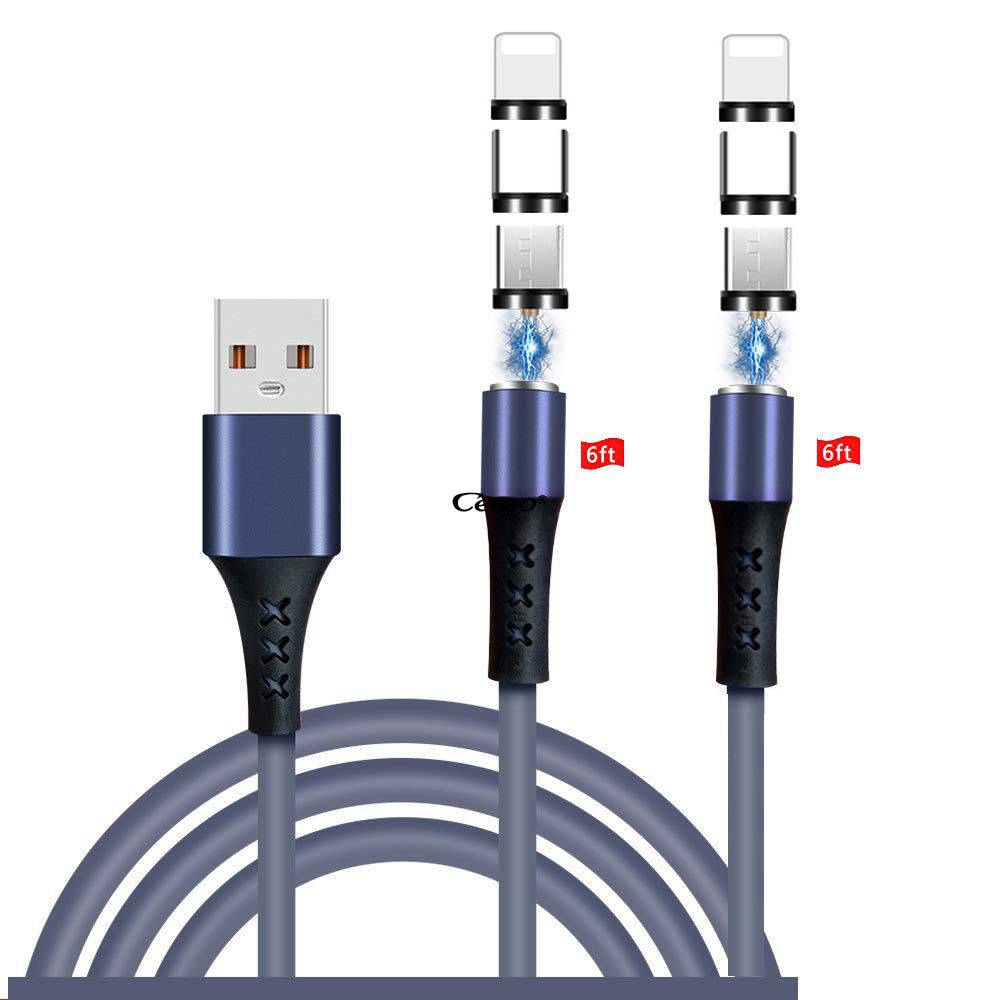 Magnetic Charging Cable Soft & Tangle-Free Liquid Silicone Cable,3in1