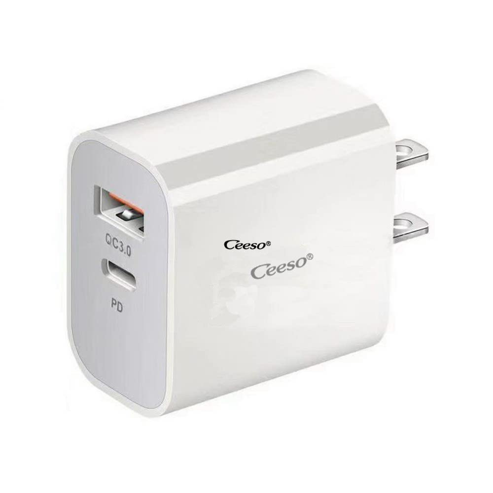 USB Wall Charger, QC 3.0 Technology, Fast 3A/18W 2 Port PD Charger