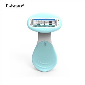 Razors for Women with Sensitive Skin, Premium Shaving Razor with Lubricating Str